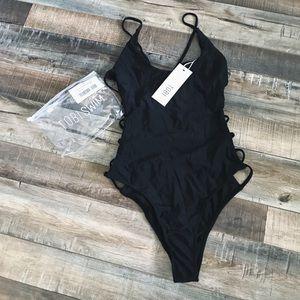 Tobi Strappy Black Monokini